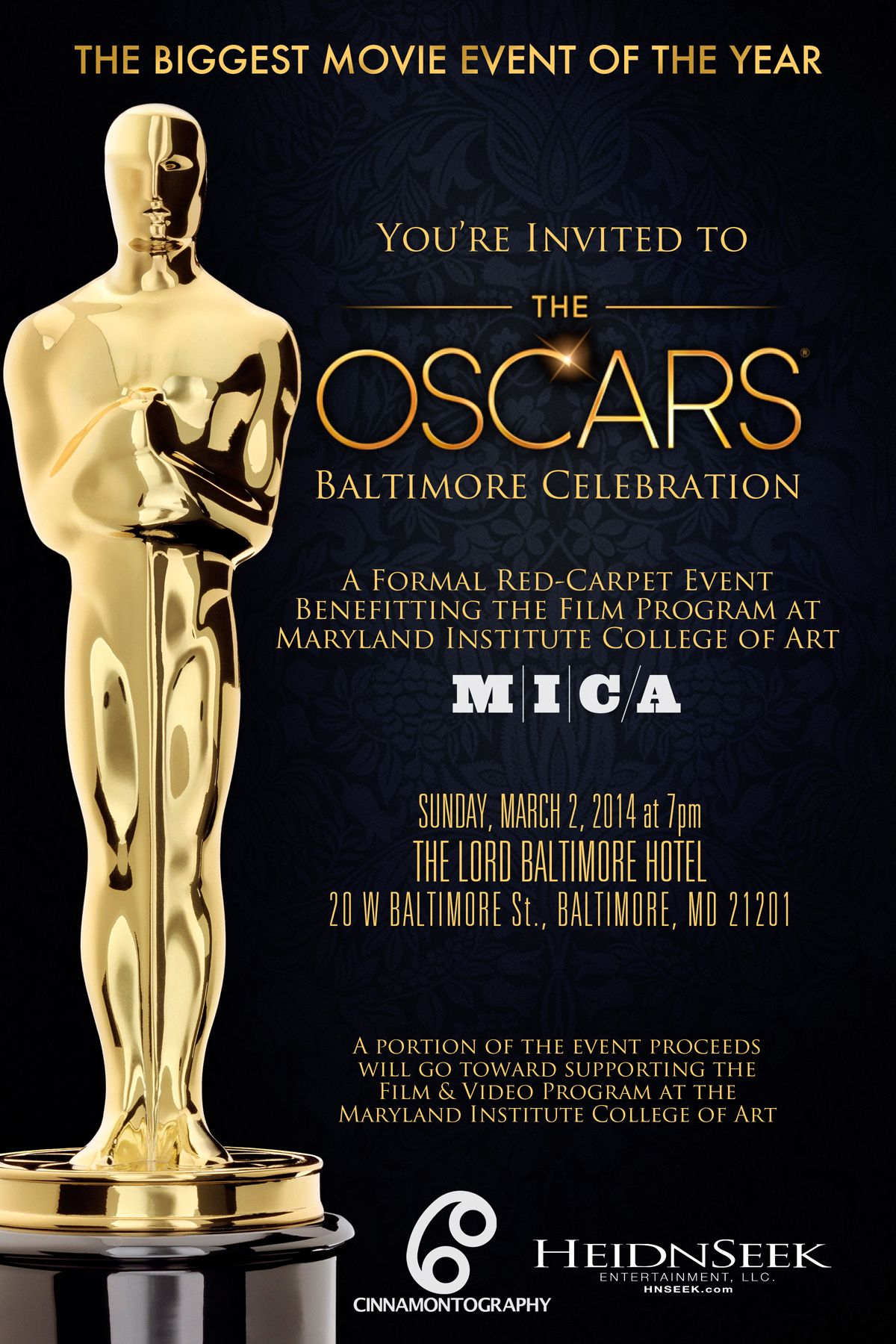 Envelopments Invitations For Academy Awards Oscars Envelopes