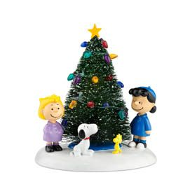 "Department 56  ""O'Christmas Tree"", The Peanuts gang around the Christmas tree, Introduced January 2011"