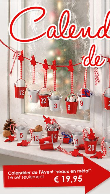 calendrier de l 39 avent buttinette france loisirs cr atifs no l pinterest noel xmas and craft. Black Bedroom Furniture Sets. Home Design Ideas