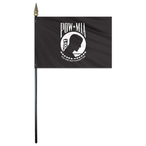 POW MIA Stick Flag #FlagCo #Military #POWMIA | Military Flags ...