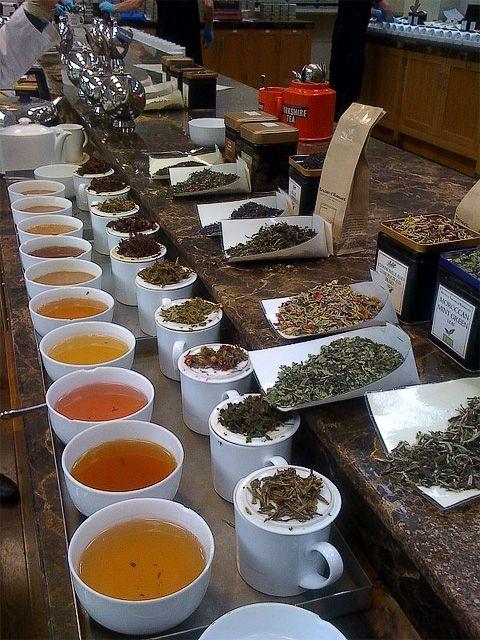 tea tasting action!