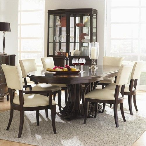Westwood Oval Double Pedestal Dining Table With Leaves Amusing Oval Dining Room Table And Chairs Design Decoration