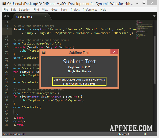 sublime text 3 licence key linux