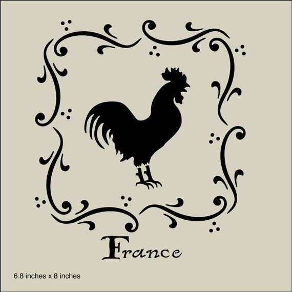 The artful stencil french country rooster stencil 68 x 8 10 mil the artful stencil french country rooster stencil 68 x 8 10 mil mylar solutioingenieria Images