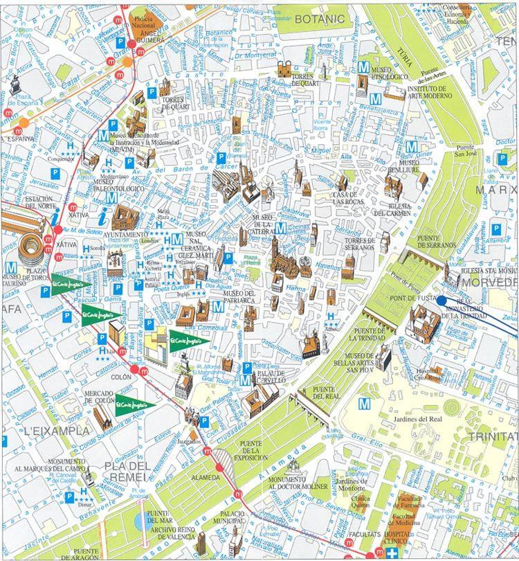 Cartina Valencia Spagna.Mappa Valencia Cartina Di Valencia Valencia Mappa Spagna