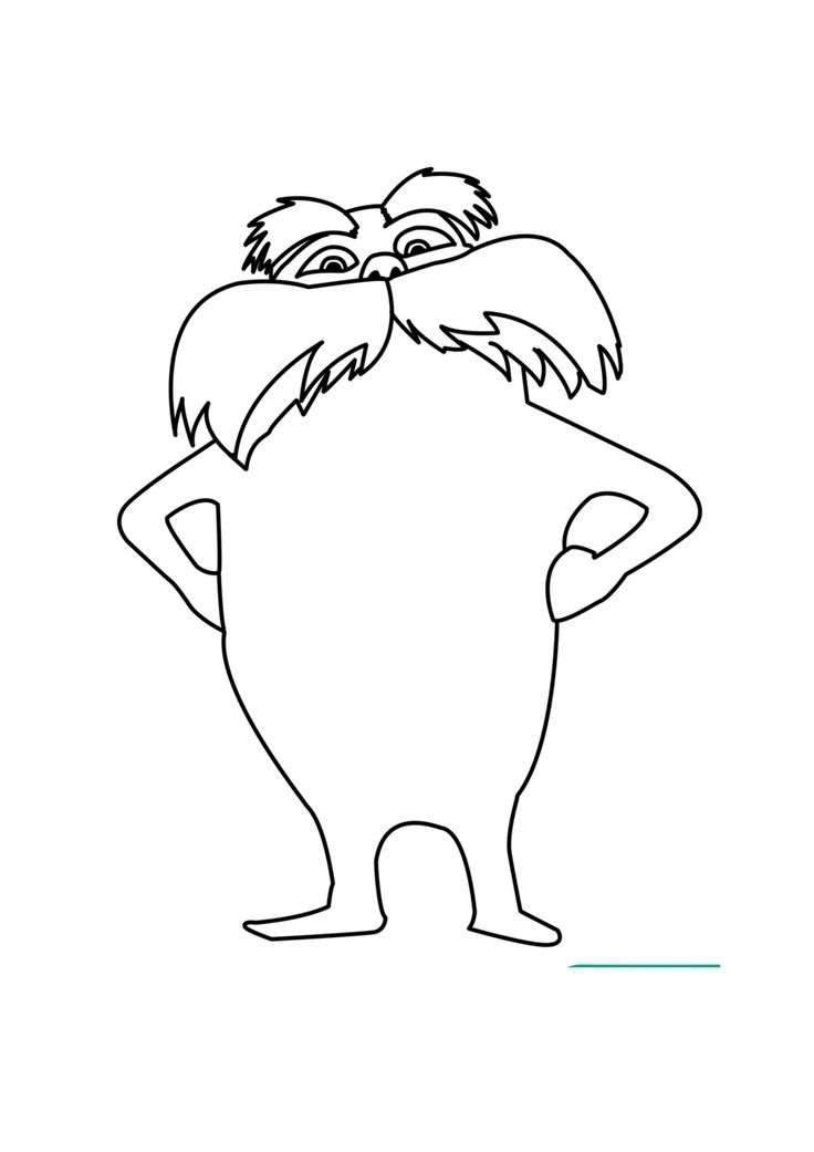 lorax coloring pages school april