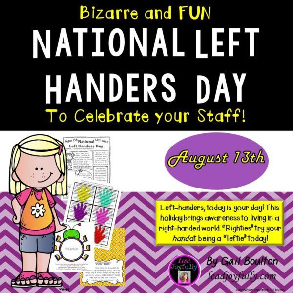 National Left Handers Day August 13th National Left Handers Day National Left Handed Day Day