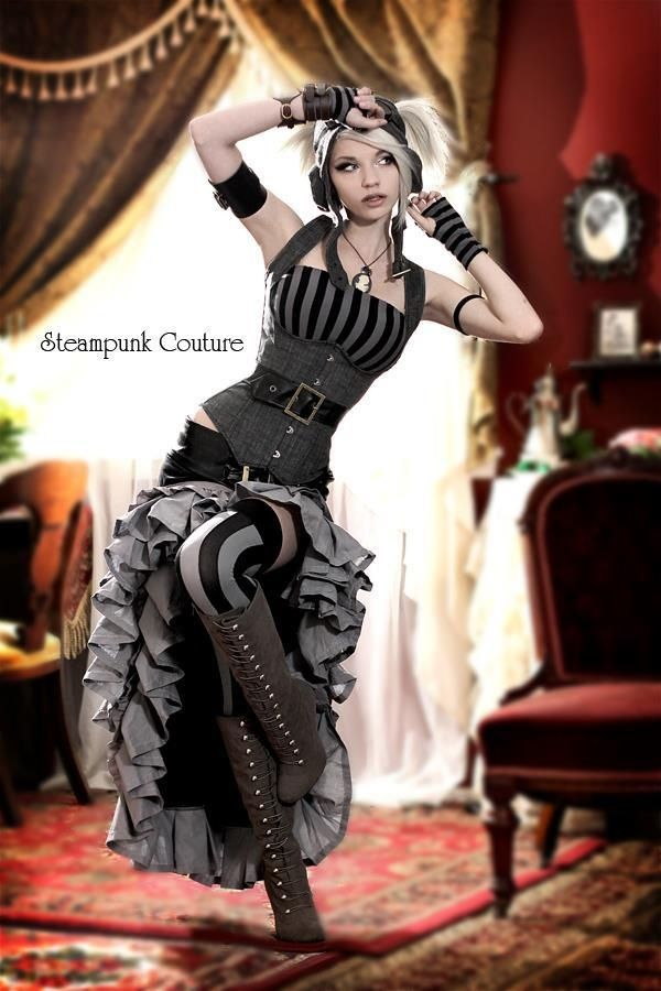Steampunk Couture - I'd wear this if my work dress code allowed it. ;)