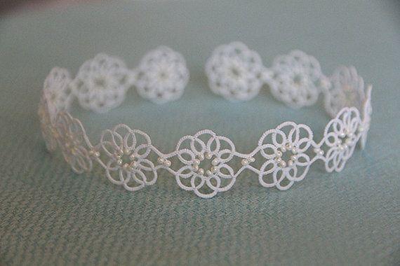 Tatting lace bracelet pdf pattern (Clematis)