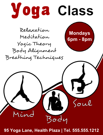 Free Flyer Template For A Yoga Class