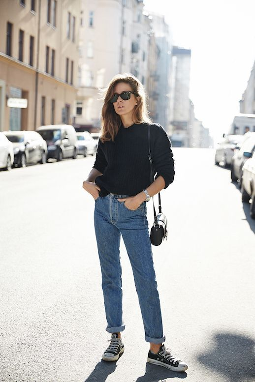 black converse black jeans