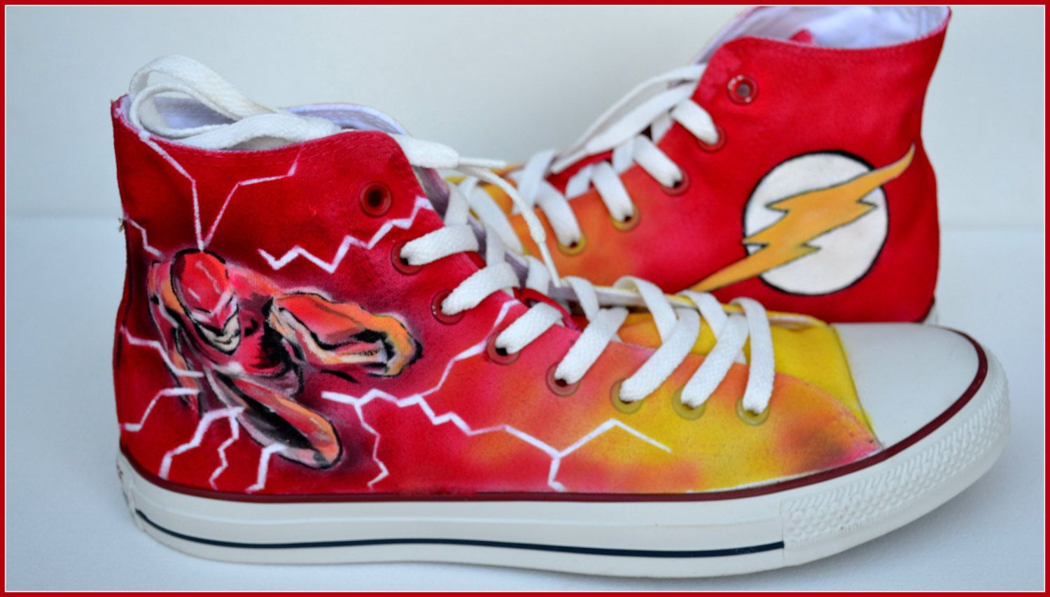Painted Flash Shoes Custom Painted Mens Converse The Flash Converse Custom… 05c1f9d2b