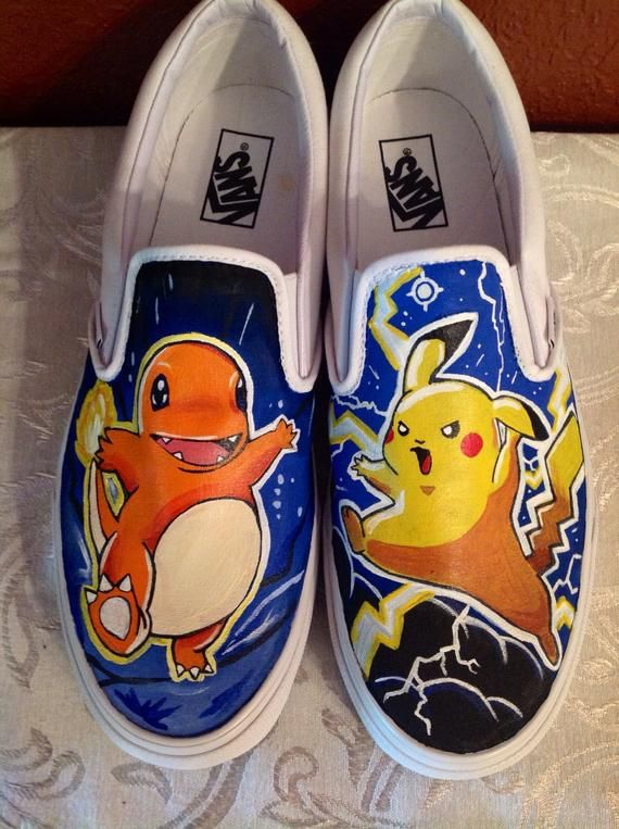 c31570b9f3799c Pokemon Vans. Pokemon Vans Custom Painted ...