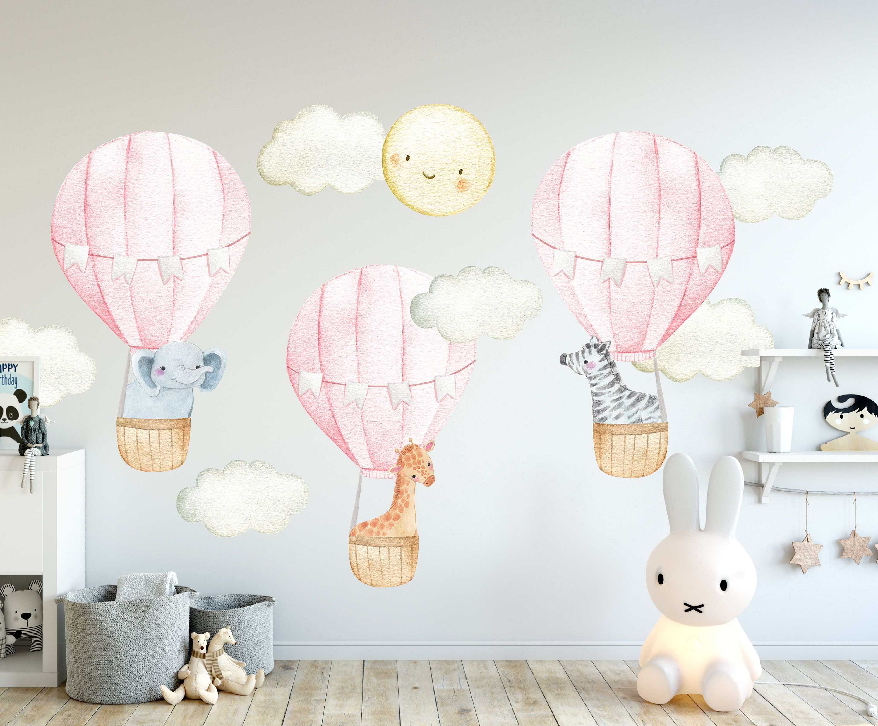 Hot Air Balloon Wall Decal Hot Air Balloon Wall Decor Etsy Nursery Wall Decals Hot Air Balloon Nursery Decor Hot Air Balloon Nursery