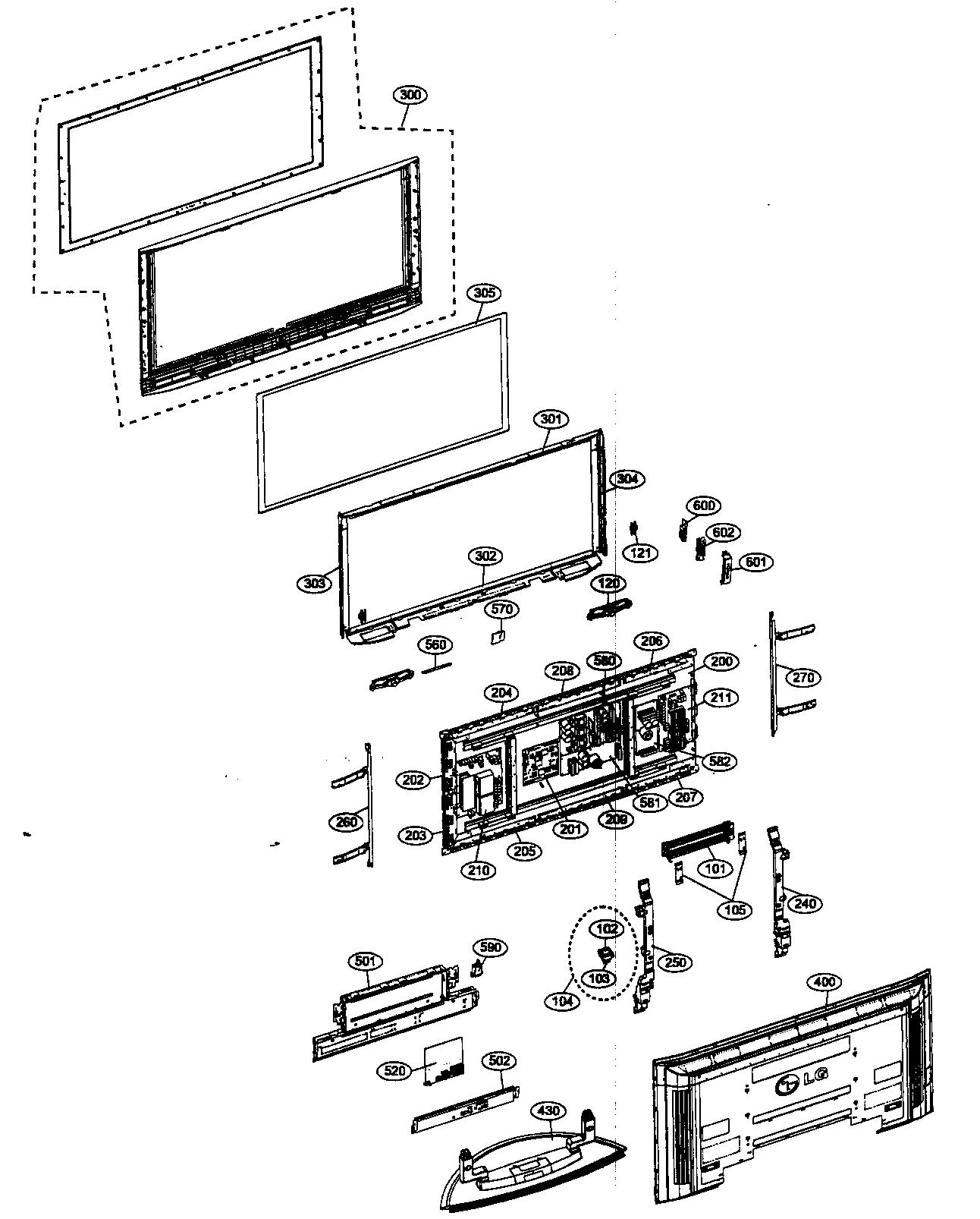 lcd tv diagram