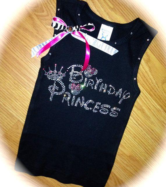 Disney Font Shirt Birthday Princess Zebra Rhinestone Kids 2t 3t 4t 5t 6 7 8 Pink Bi