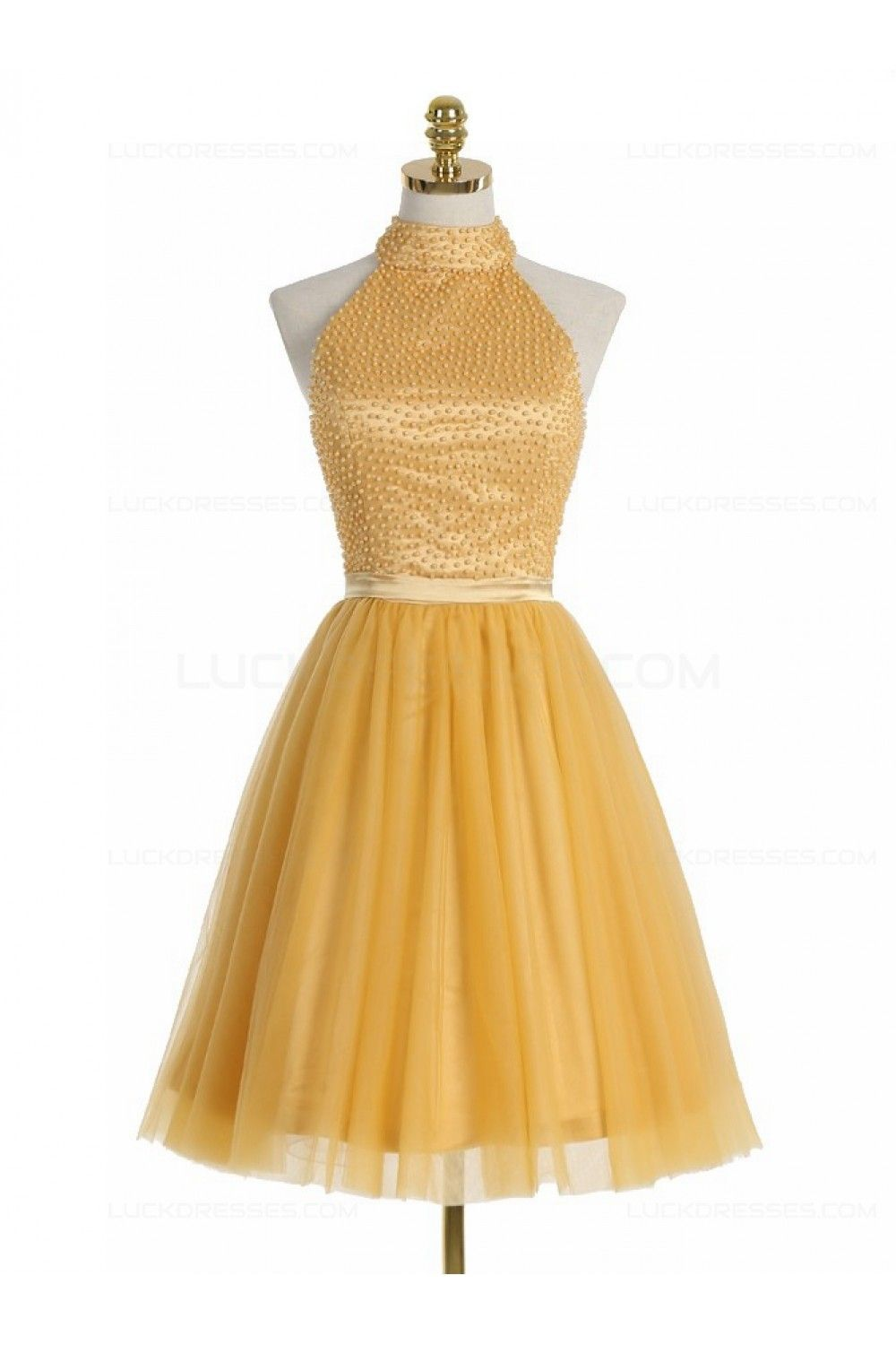 Short yellow homecoming cocktail prom dresses shorts prom