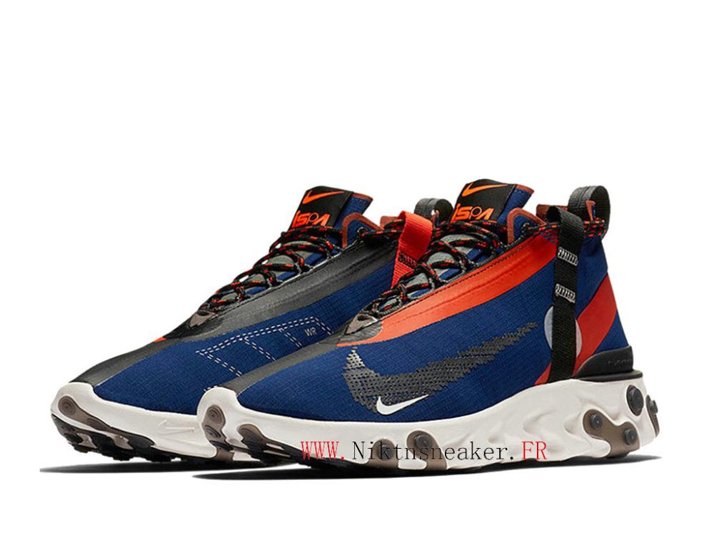 2020 Nike React Runner Mid WR ISPA Noir / Blanc / Bleu Chaussures ...