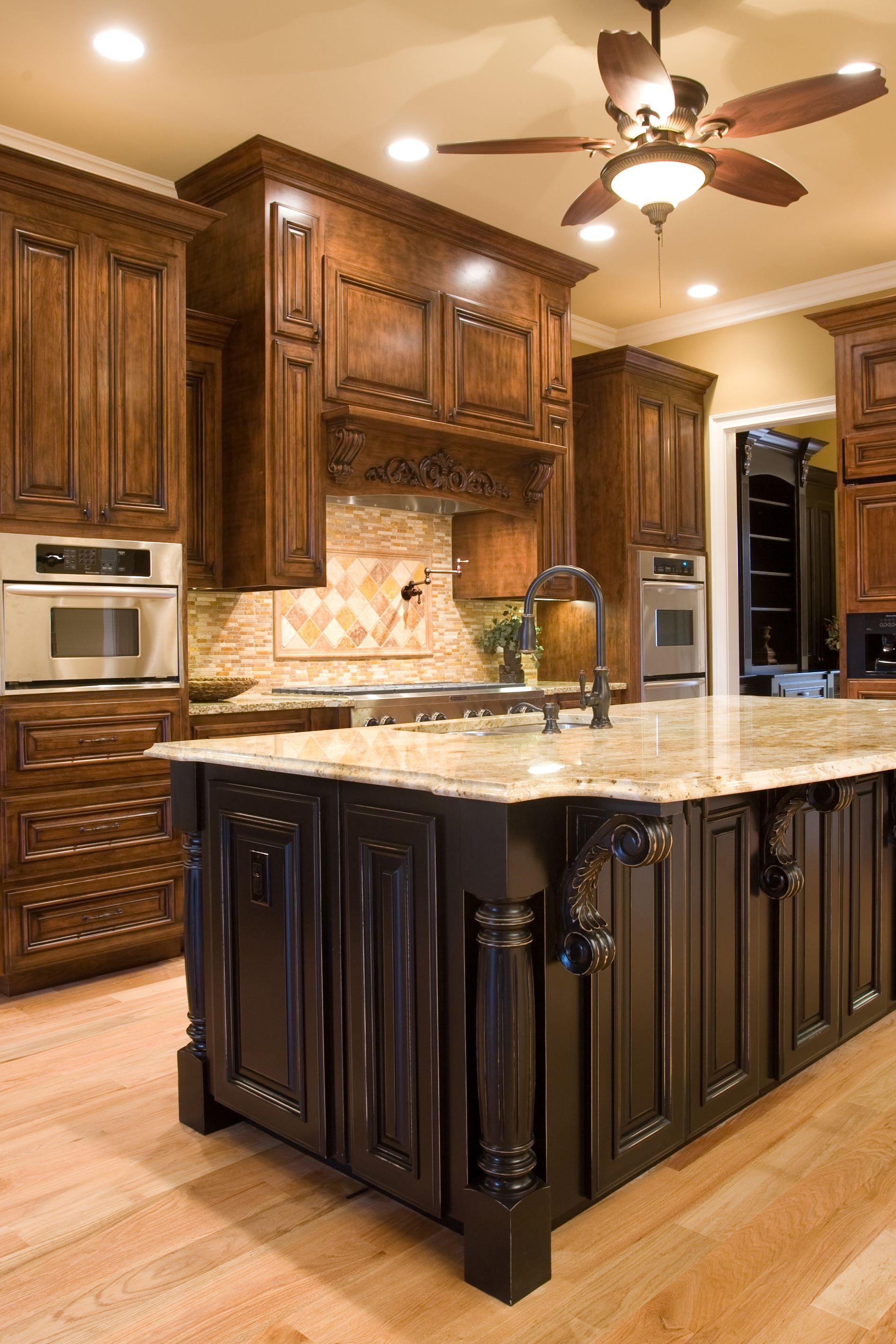Dark Kitchen Island Kitchen Design Black Kitchen Island Contrasting Kitchen Island