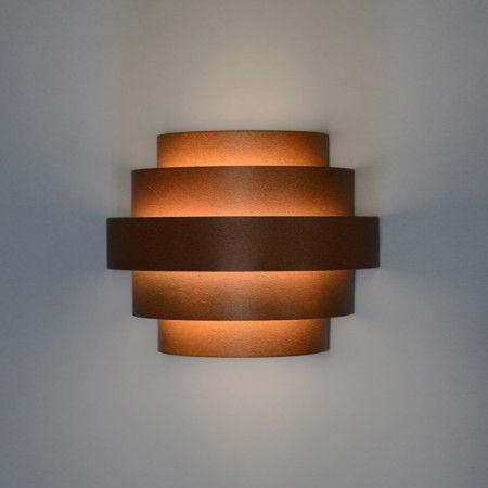 Wandleuchte Bolster rostbraun #Lampe #Light #einrichten - lampe für wohnzimmer