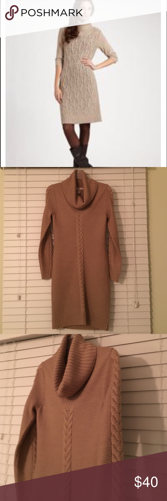 Beautiful camel cowl neck sweater dress | Cowl neck, Camels and ...
