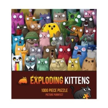 Exploding Kittens Picture Purrfect 1000 Piece Puzzle Multi In