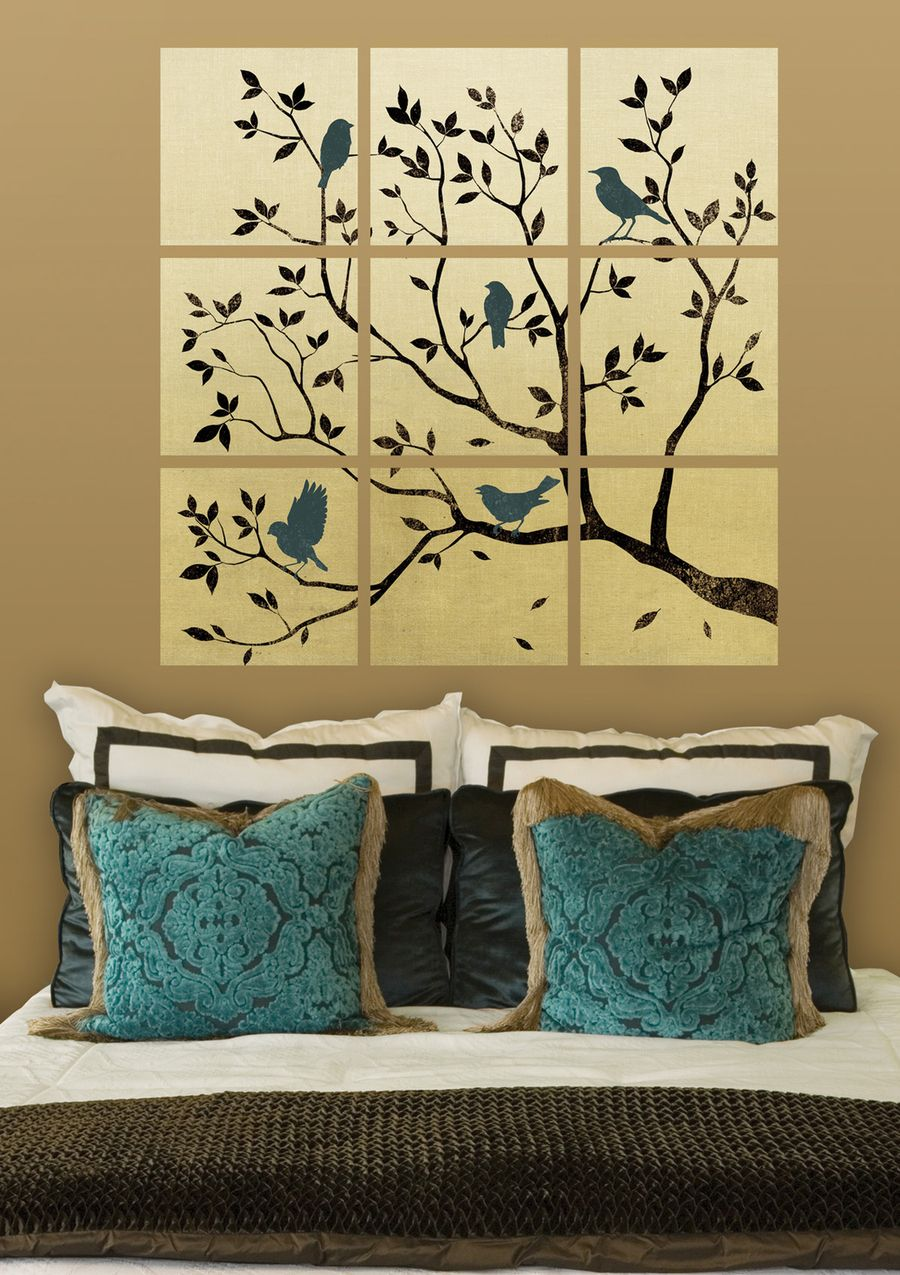 I like the idea of multiple canvas 39 to make one picture for Multi canvas art ideas