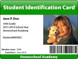 teacher student id card maker easy and free homeschool