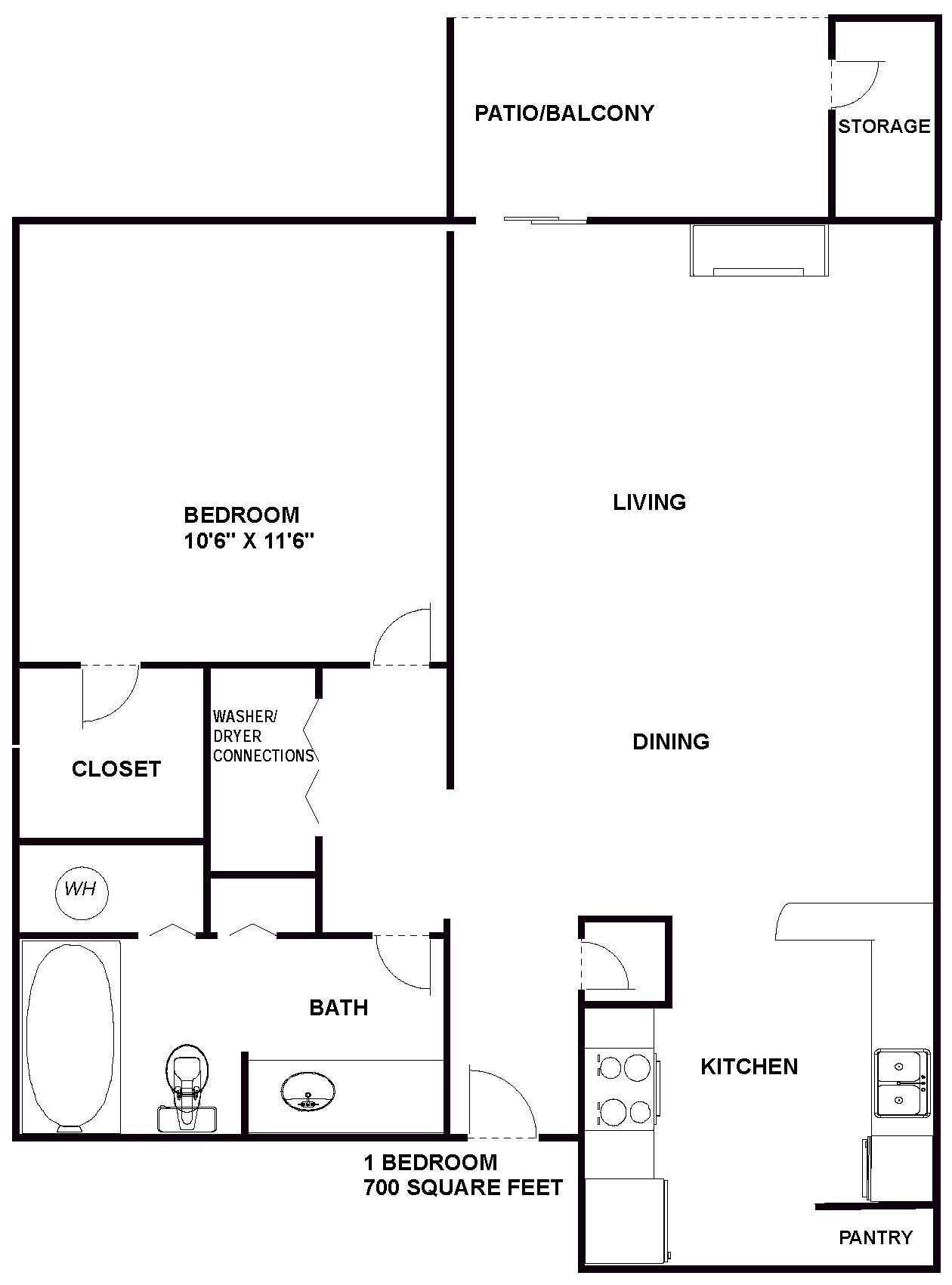 Image result for 1 bedroom 700 sq ft house plans   House ...