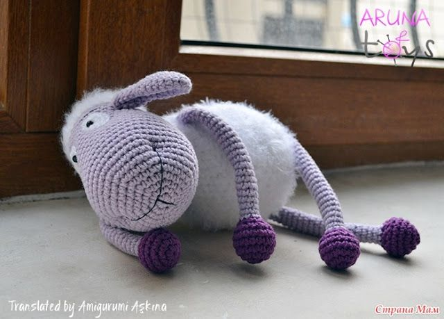 Free Amigurumi Lamb : Preparation purple sheep sheep amigurumi amigurumi free pattern