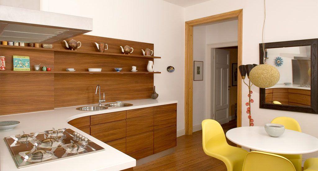 Küche Nussbaum küche geschwungen und runde formen massivholz nussbaum natürlich
