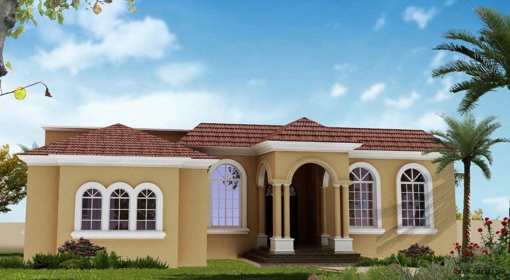 مخطط فيلا طابق واحد 3 غرف نوم بمساحه 250 متر مربع House Elevation House Styles House