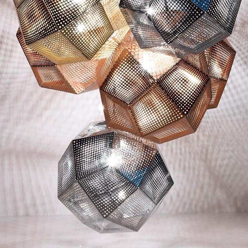 Tom Dixon Etch Geometrische Hangelampe Kupfer Tom Dixon Hange Lampe Und Lichteffekte