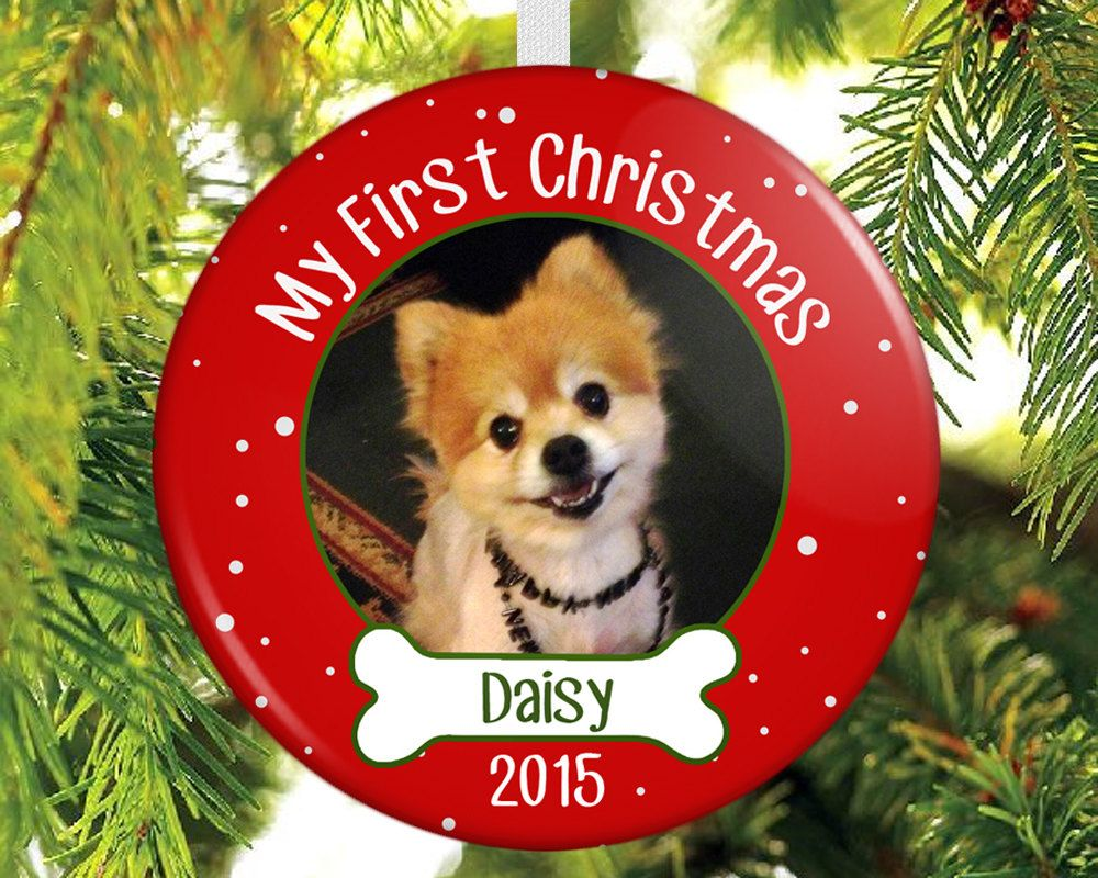 Dogs First Christmas Ornament.Dog S First Christmas Ornament Puppy S By