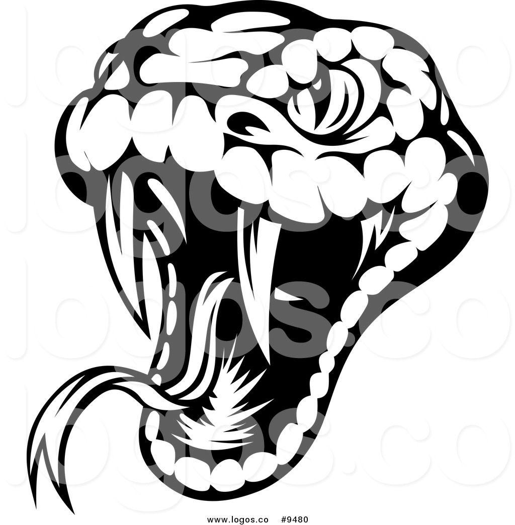 royalty free clip art vector logo of a biting black and white viper rh pinterest com snake logo gun company snake logos free