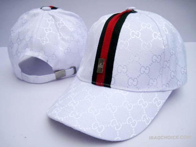 Gucci Caps White GG With Green Stripe Mens Gucci Hat 7055210343e