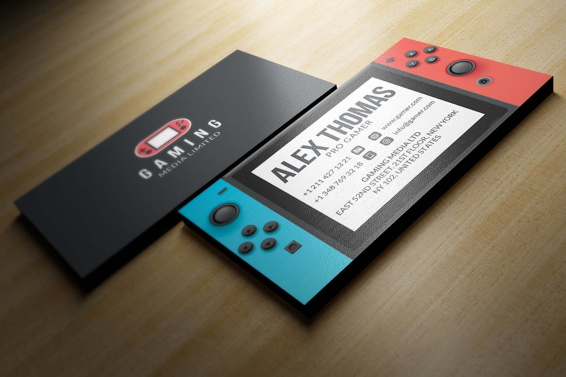 Nintendo Switch Business Card Card templates, Unique