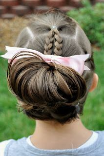 super easy updo for little girls very cute too