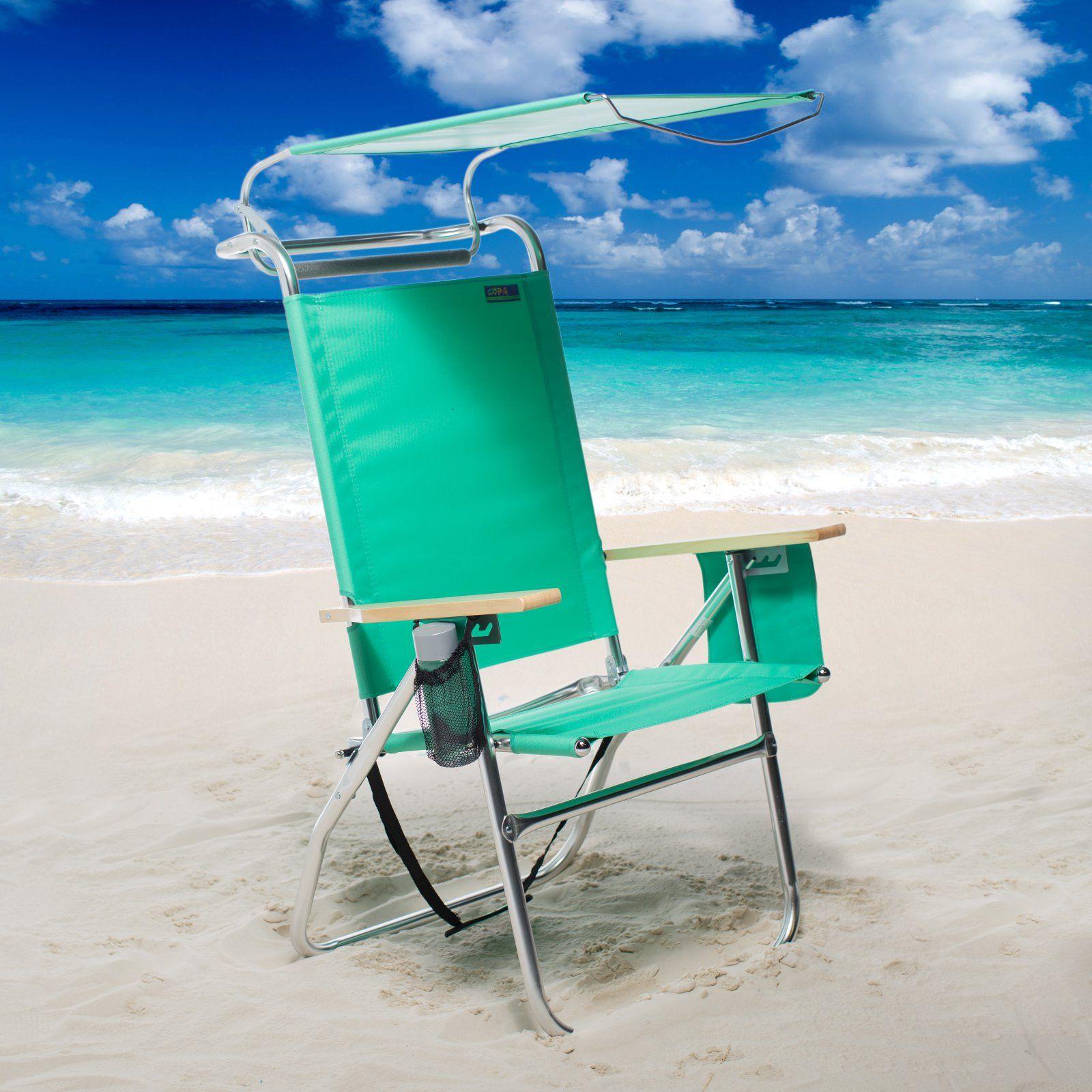 Copa 4 Position Big Tycoon Canopy Beach Chair Walmart