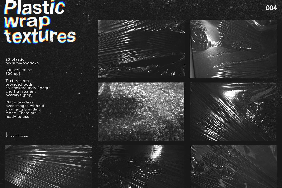 Artistic Toolkit 7in1 Plastic Texture Overlays Transparent Grunge Textures