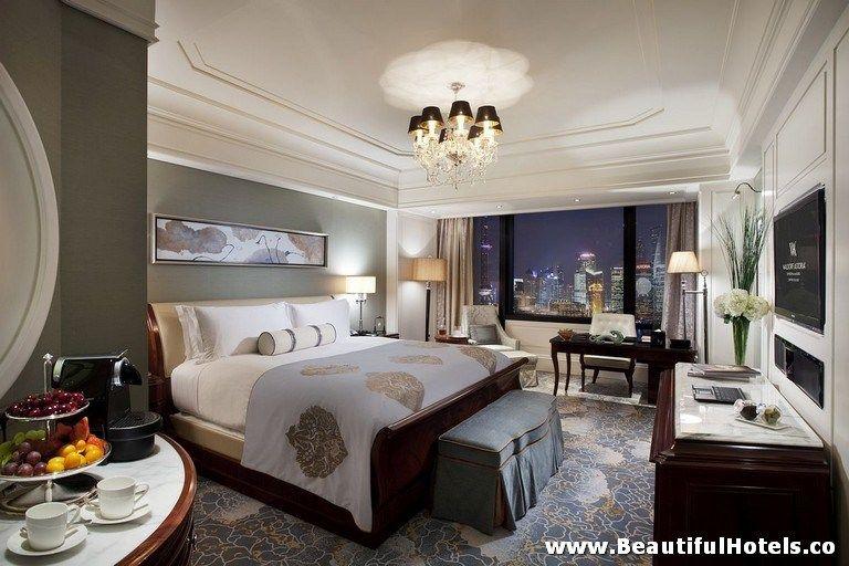 Waldorf Astoria Shanghai On The Bund Shanghai China Bedroom Hotel Hotel Luxury Hotel