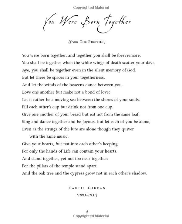 Wedding Blessings Khalil Gibran Inspirational Quotes Khalil Gibran Quotes Words Quotes