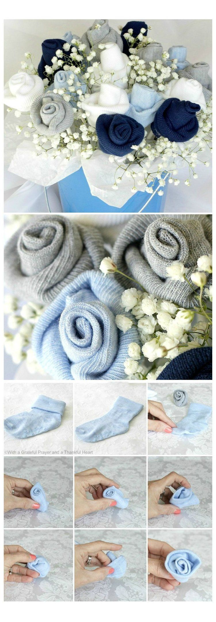 Pin By Nikki Vanblarcom On Crafty Gifts To Give Receive In 2020 Baby Socks Flower Bouquet Baby Socks Flowers Baby Socks