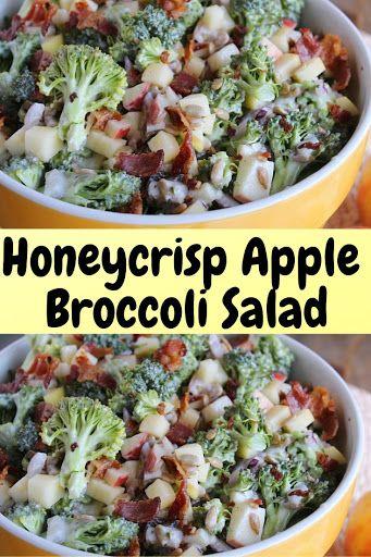 Honeycrisp Apple Broccoli Salad Recipe Yummly Recipe Salad Recipes Healthy Recipes Delicious Salads