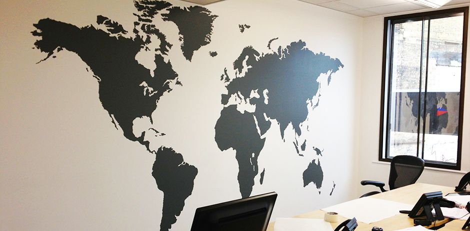 Extra large world map wall decal for offices by vinyl impression extra large world map wall decal for offices by vinyl impression plus fitting in london gumiabroncs Image collections