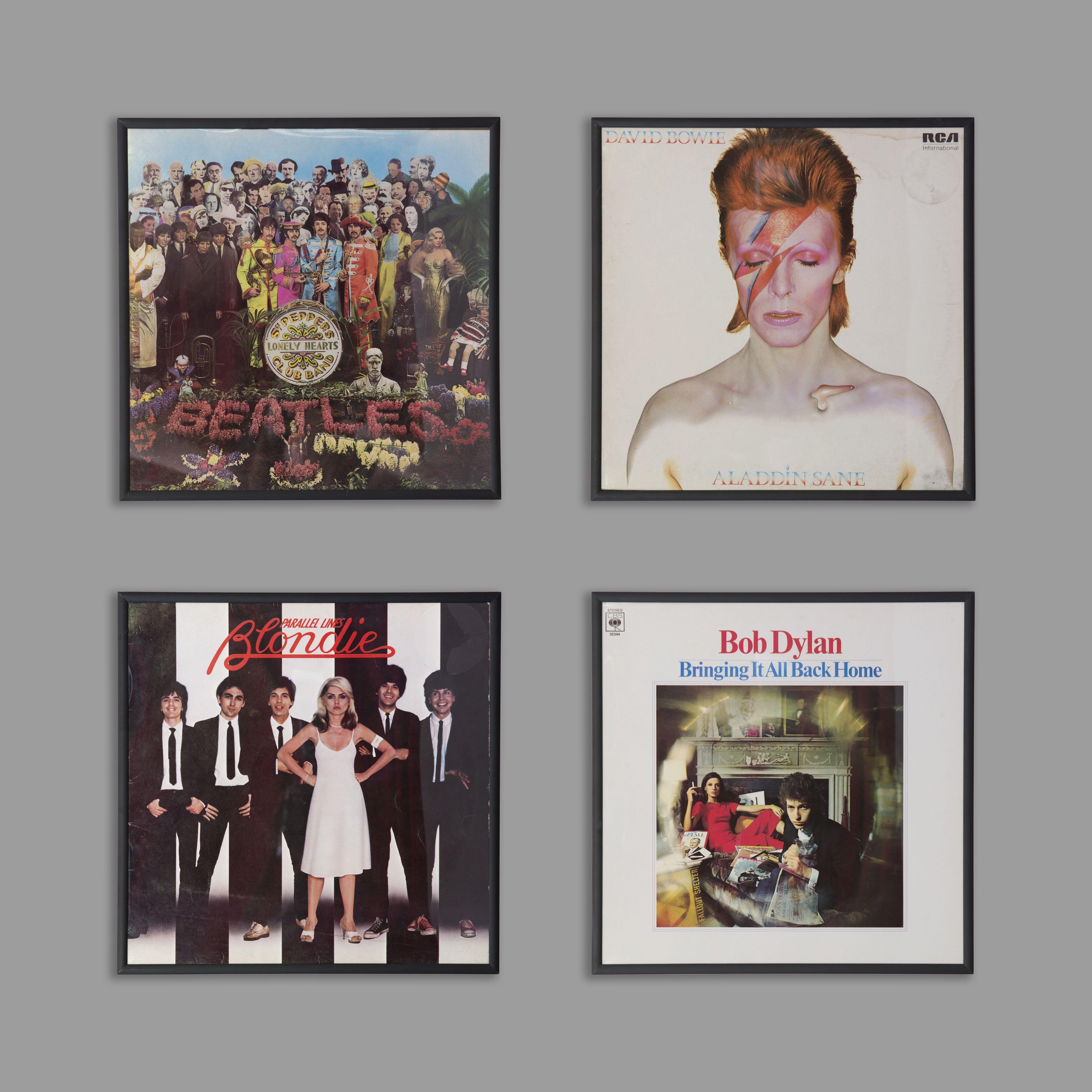 Vinyl record cover frames home pinterest