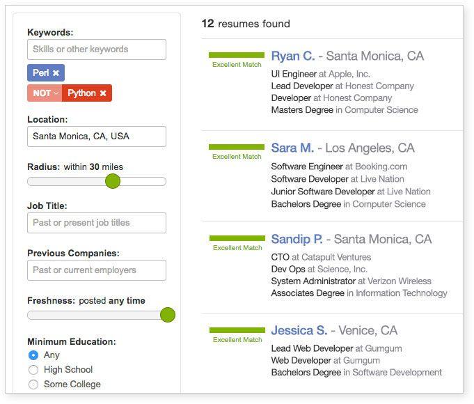 Search Resume Database Ziprecruiter Resume Examples Resume Resume Template