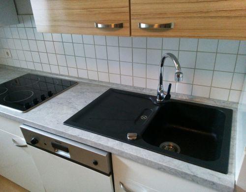 Gebraucht Küche inkl Geräte in Weiß-Hochglanz Moderne Küche inkl