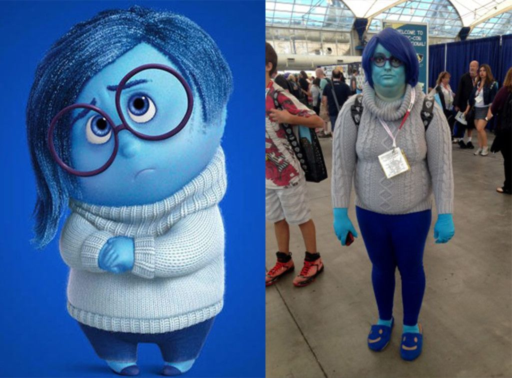 Sadness Inside Out Costume Inside Out Halloween Costumes Top 10 Halloween Costumes Creative Halloween Costumes