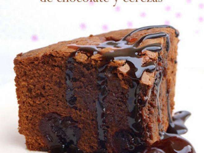 Receta Bizcocho de chocolate y cerezas